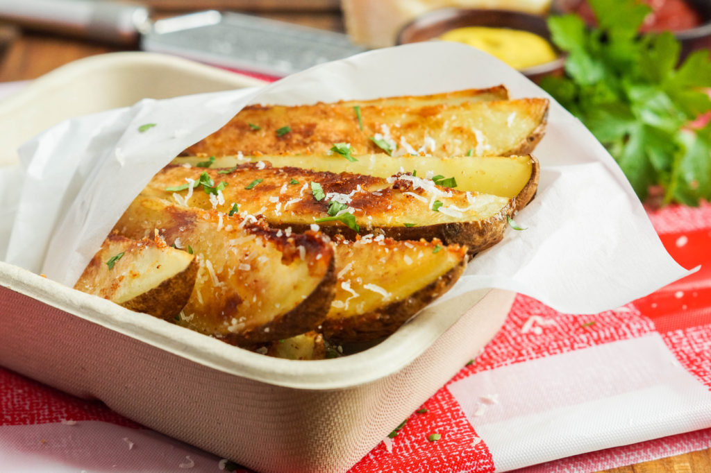 Seasoned Parmesan Potato Wedges (2 of 3)