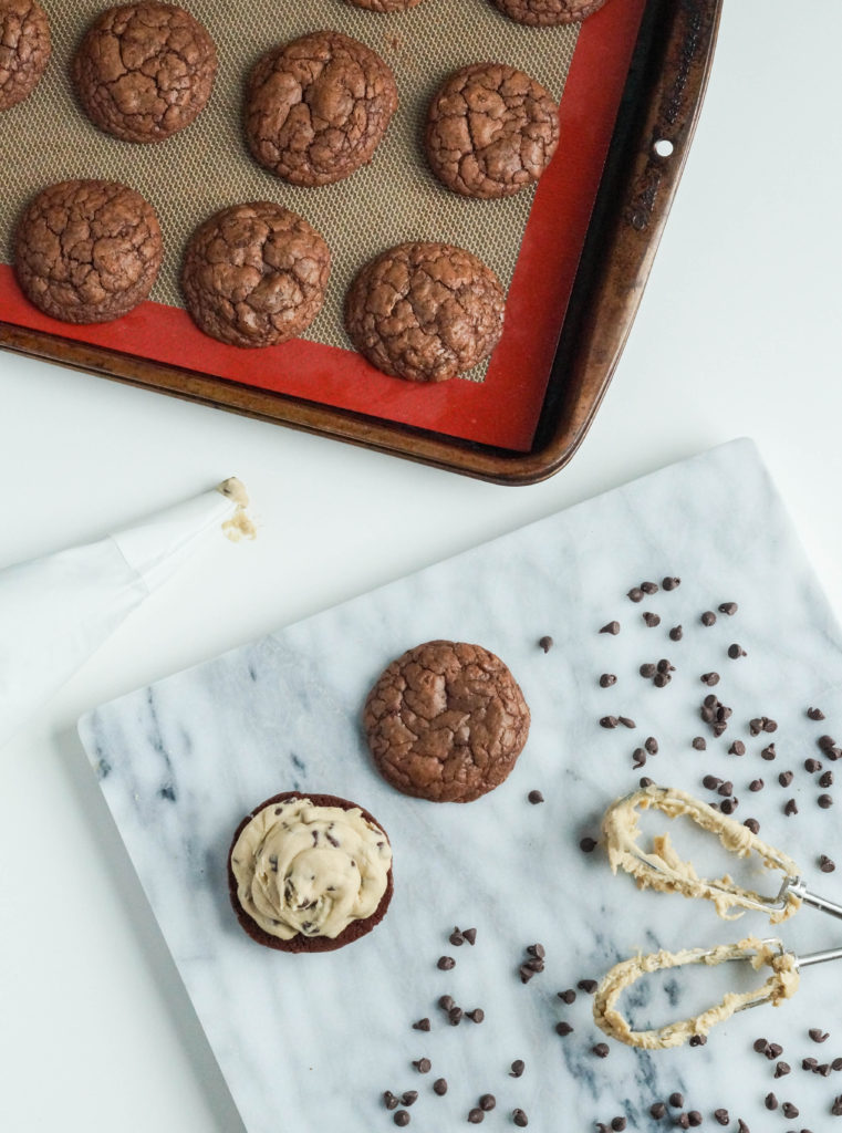 Brownie Chocolate Chip Cookie Dough Sandwich Cookies (1 of 3)