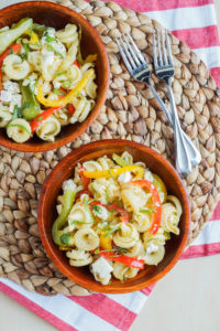 Pasta Cookbook Review and Dondolini Salad with Grilled Peppers and Feta