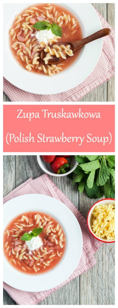 Zupa Truskawkowa (Polish Strawberry Soup)