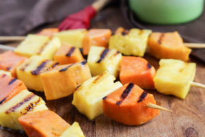 Kaukau na Painap (Papua New Guinean Sweet Potato and Pineapple Skewers)
