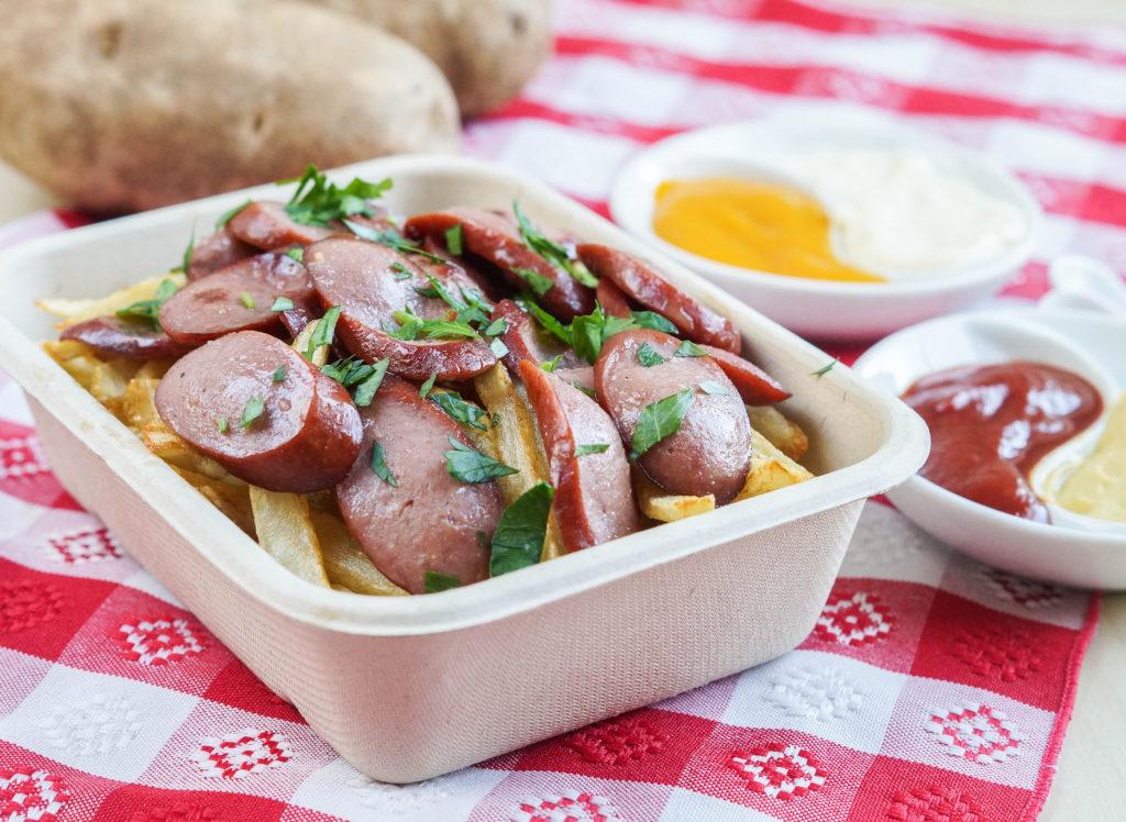 Salchipapas (Peruvian Sausages and Potatoes) (2 of 3)