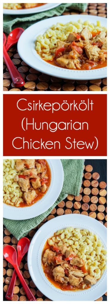 Csirkepörkölt (Hungarian Chicken Stew)