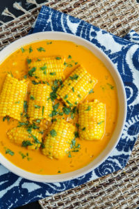 #SundaySupper Summer Corn: Galey iyo Qumbo (Somali Corn in Coconut Sauce)