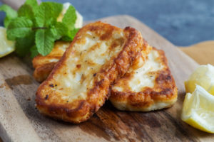 Palestine on a Plate Cookbook Review and Halloumi Meshwi (Pan-Grilled Halloumi with Lemon)