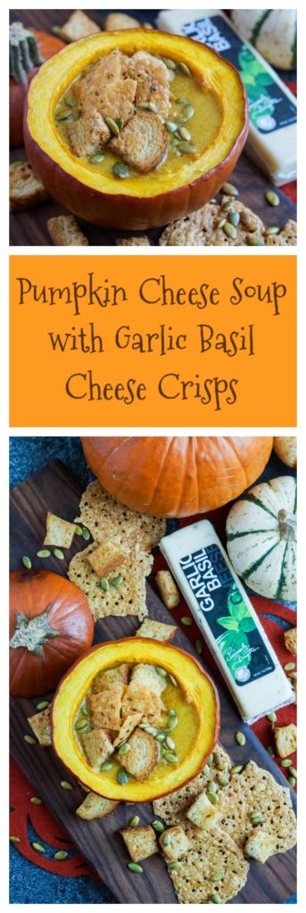 pumpkin-cheese-soup-with-garlic-basil-cheese-crisps