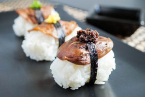 Vegetarian Sushi Secrets Cookbook Review and Shiitake Nigiri