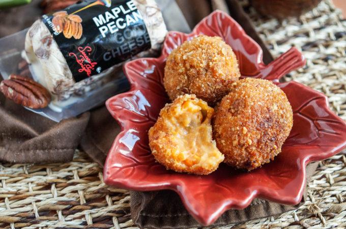 Sweet Potato Maple Pecan Goat Cheese Croquettes