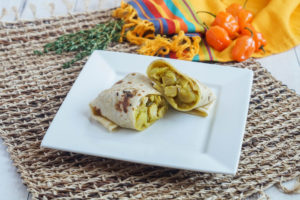 Bajan Chicken and Potato Roti