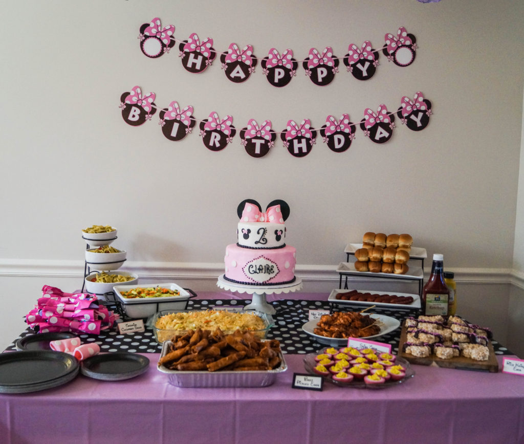 Claires Minnie Mouse Birthday Party