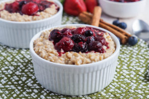 Irish Porridge with Berry Compote