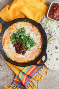 #SundaySupper Easy Cinco de Mayo Recipes: Queso Fundido (Melted Cheese with Chorizo)