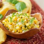Jolada Palya (Stir-Fried Corn with Basil and Leeks)