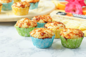 Orange Ginger Cheese Muffins