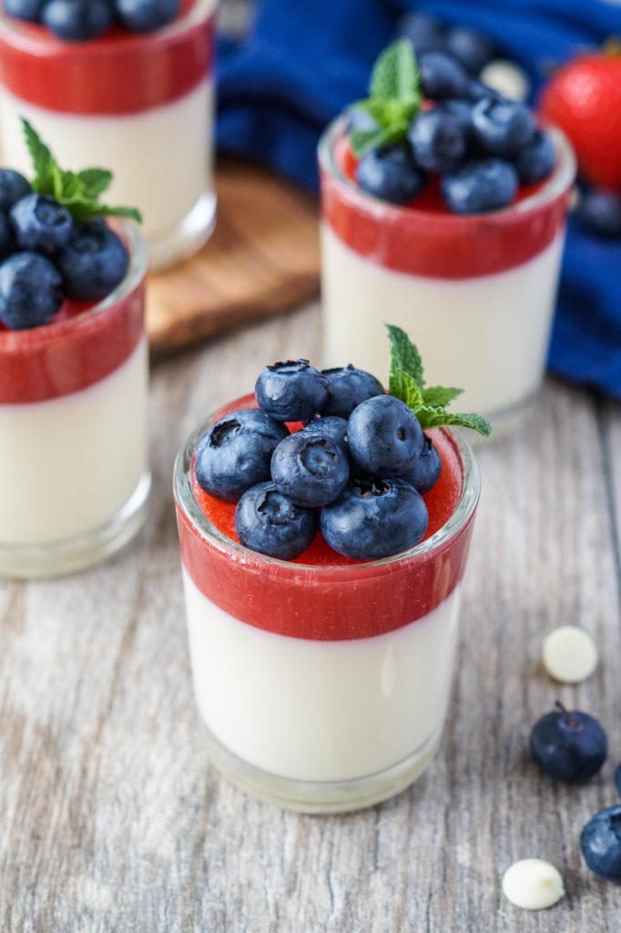 Strawberry and White Chocolate Panna Cotta