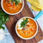 Qatiqli Hu'rda (Uzbek Rice Soup with Yogurt)