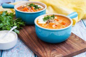 #SundaySupper Simple Rice Recipes for Dinner: Qatiqli Hu'rda (Uzbek Rice Soup with Yogurt)