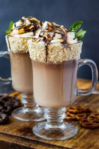 Chocolate Covered Pretzel Hot Chocolate