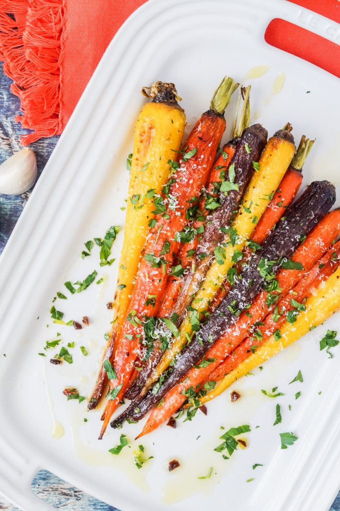 Garlic Parmesan Roasted Carrots
