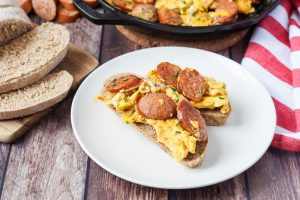 Wild Honey & Rye Cookbook Review and Jajecznica (Scrambled Eggs with Polish Sausage)