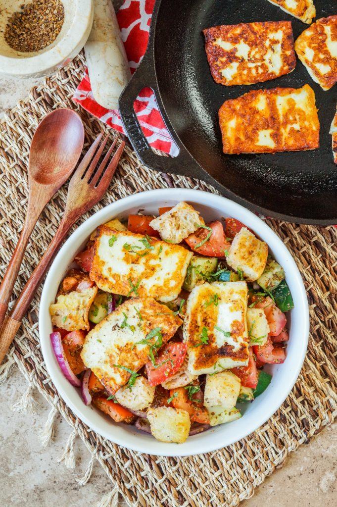 Spicy Halloumi Salad