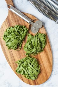 Homemade Spinach Fettuccine