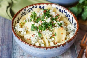 Eski Peynirli Hangel (Handkerchief Noodles with Blue Cheese and Butter) and Istanbul & Beyond Cookbook Review