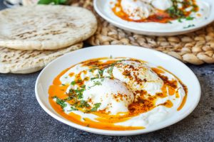 Çılbır (Turkish Poached Eggs with Yogurt)