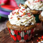 Gingerbread Cupcakes with Eggnog Buttercream