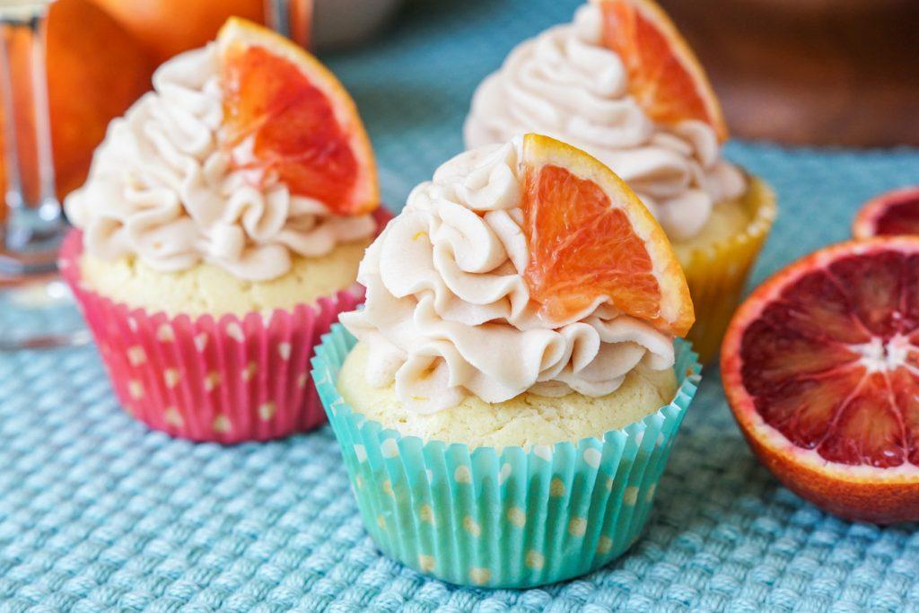 Blood Orange Chardonnay Cupcakes
