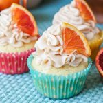 Blood Orange Chardonnay Cupcakes