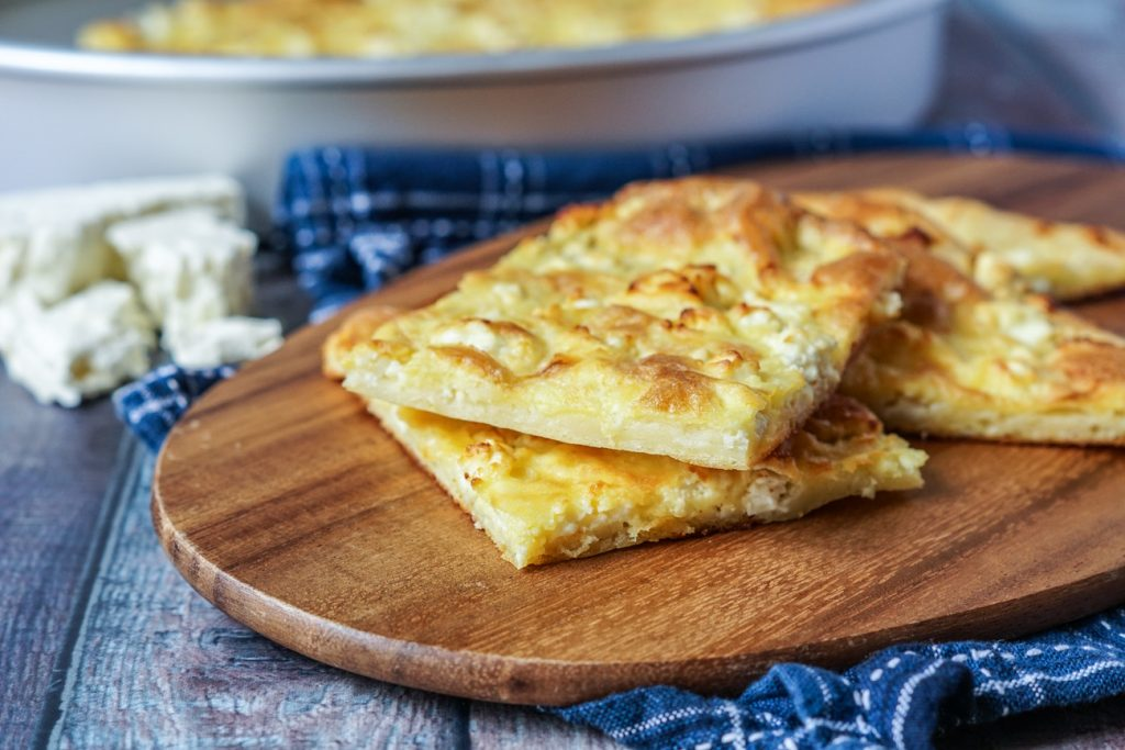 Alevropita (Greek Thin-Batter Feta Pie)