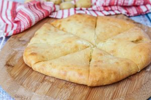 Khabizgina (Ossetian Cheese and Potato Bread)