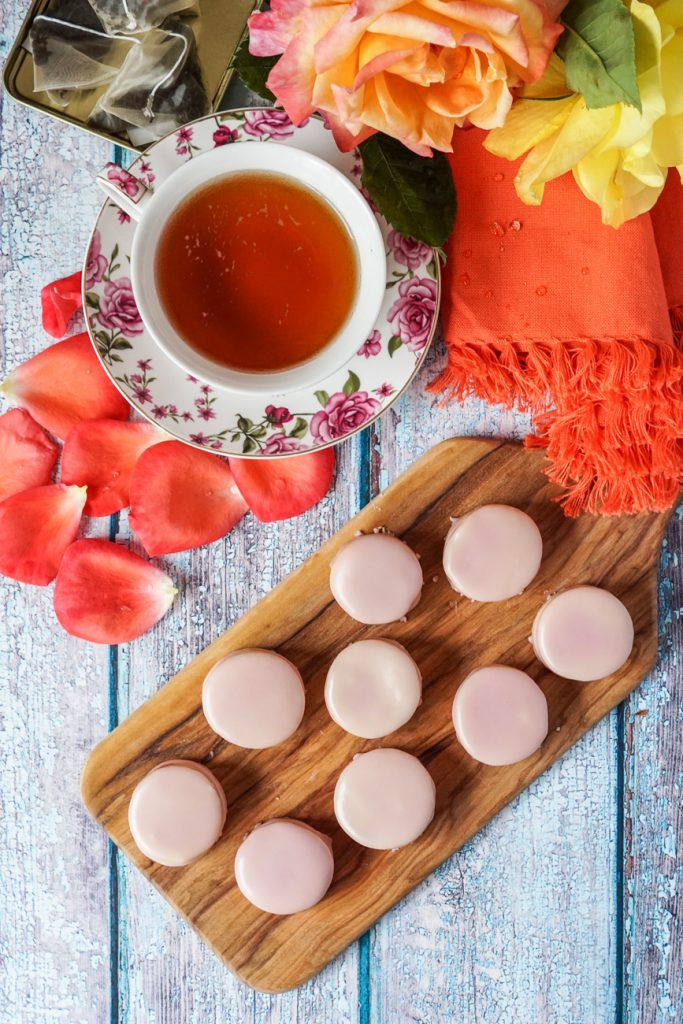 Aerial view of Napolitaines (Mauritian Sandwich Cookies)