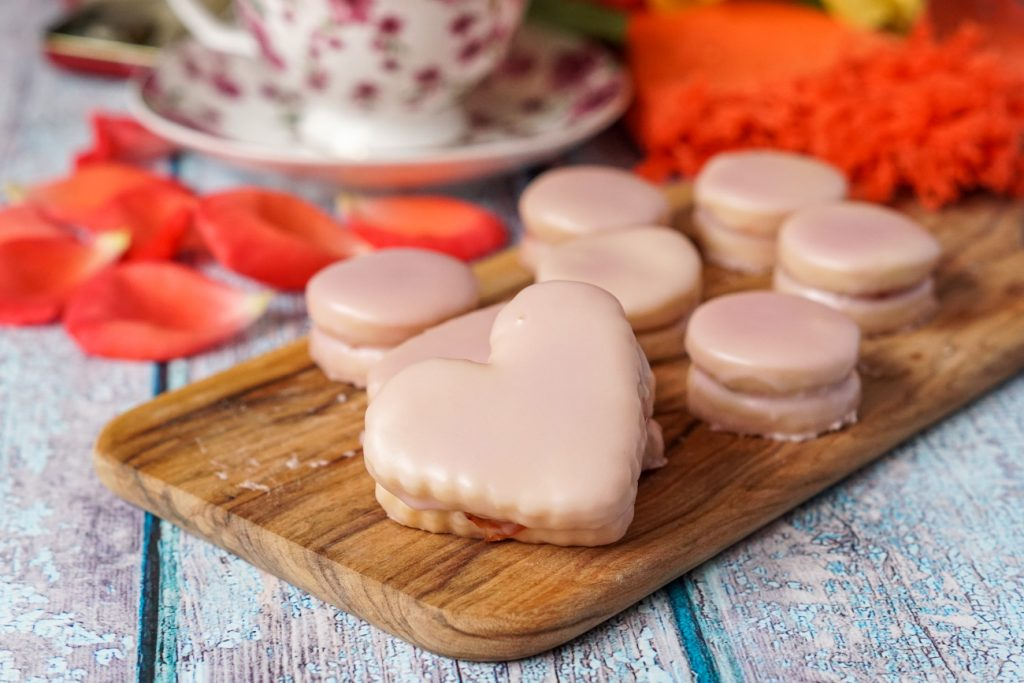 Heart Napolitaines (Mauritian Sandwich Cookies)