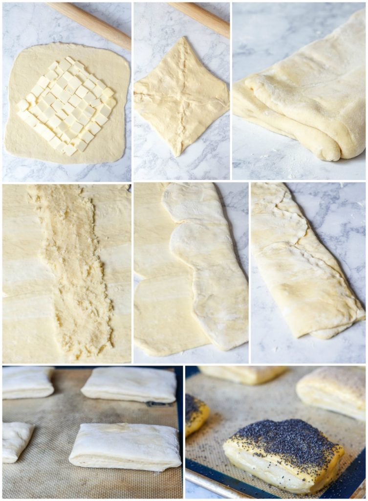 Folding of Tebirkes (Danish Poppyseed Pastries)