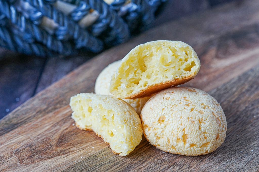 Inside of Japanese Mochi Cheesebreads
